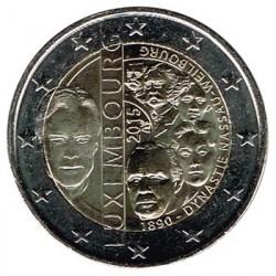 Luxemburgo 2015 2 euros. 125º Aniv. de la dinastía Nassau-Weilburg