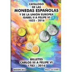 Hermanos Guerra Monedas y billetes españoles 1833-2016