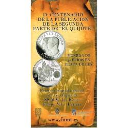 España 2015 Cartera Oficial Circulante Plata 30 Euros Plata El Quijote II S/C