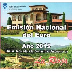 España 2015 Cartera Oficial Comunidades La Rioja S/C