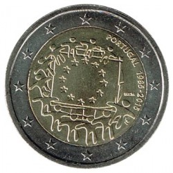 Portugal 2015 2 Euros . 30º Aniv. de La Bandera Europea S/C