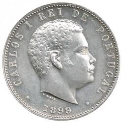 Portugal 1000 Reis de plata 1899 D. Carlos I EBC+