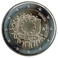 España 2015 2 Euros. 30º Aniv. de La Bandera Europea S/C