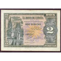 2 Pesetas 1938 Burgos. S/C-