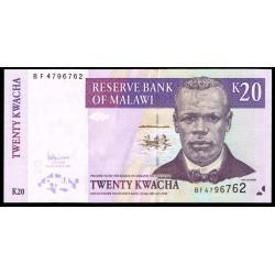 Malawi 20 Kwachas PK 52d (31-10-2.007) S/C