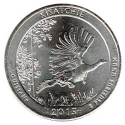 Estados Unidos (Parques) 2015 1/4 Dólar D (Kisatchie) S/C