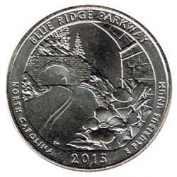 Estados Unidos (Parques) 2015 1/4 Dólar D (Blue Ridge Parkway) S/C