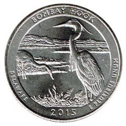 Estados Unidos (Parques) 2015 1/4 Dólar D (Bombay Hook) S/C