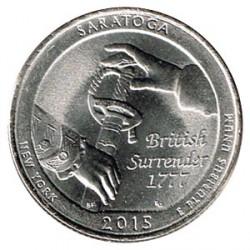 Estados Unidos (Parques) 2015 1/4 Dólar D (Saratoga) S/C