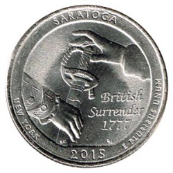 Estados Unidos (Parques) 2015 1/4 Dólar P (Saratoga) S/C