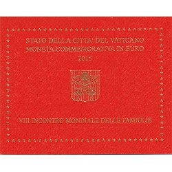 Vaticano 2015 2 Euros VIII Encuentro Mundial de la Familia S/C