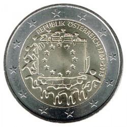 Austria 2015 2 Euros. 30º Aniv. de La Bandera Europea S/C