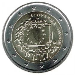 Eslovenia 2015 2 Euros. 30º Aniv. de La Bandera Europea S/C