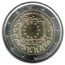 Italia 2015 2 Euros. 30º Aniv. de La Bandera Europea S/C