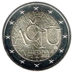 Lituania 2015 2 Euros. Idioma Lituano S/C
