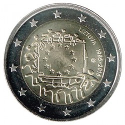 Lituania 2015 2 Euros. 30º Aniv. de La Bandera Europea S/C