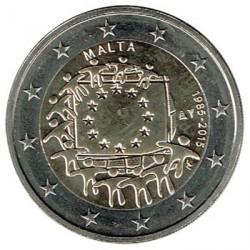 Malta 2015 2 Euros. 30º Aniv. de La Bandera Europea S/C