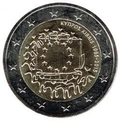 Chipre 2015 2 Euros. 30º Aniv. de La Bandera Europea S/C