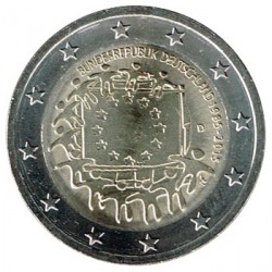 Alemania 2015 2 Euros Ceca D 30º Aniv. de La Bandera Europea S/C