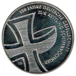 Alemania 2015 10 Euros Ceca J. 150 años de la Sociedad alemana de Salvamento Marítimo S/C