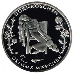 Alemania 2015 10 Euros Níquel Ceca D.La Bella Durmiente S/C