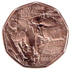 Austria 2015 5 Euros. Fuerzas Armadas de Austria S/C