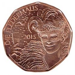 Austria 2015 5 Euros. Año Nuevo