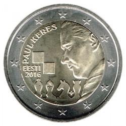 Estonia 2016 2 Euros. Centenario nacimiento de Paul Keres S/C