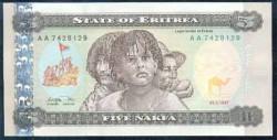 Eritrea 5 Nakfa Pk 2 (24-5-1.997) S/C