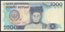 Indonesia 1.000 Rupias PK 124 (1.987) S/C
