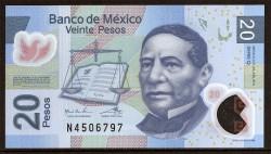 Méjico 20 Pesos PK 122f (122) (24-6-2.011) S/C