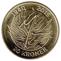 Dinamarca 2015 20 Coronas. 75 Cumpleaños de la Reina S/C
