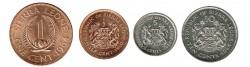 Sierra Leona 1964 -1984 4 valores (1/2,1,5 y 10 centavos) S/C