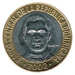 Rep. Dominicana 2002 5 Pesos. Sánchez S/C