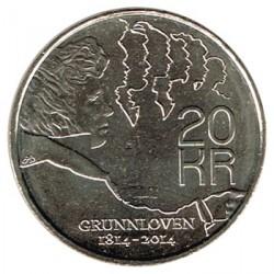 Noruega 2014 20 Coronas (200 Aniv. Constitución S/C