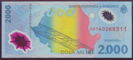 Rumanía 2.000 Lei PK 111 (1.999) S/C