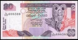 Sri Lanka 20 Rupias Pk 116d (03-07-2.006) S/C