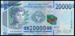 Guinea 20.000 Francos PK 50 (2.015) S/C