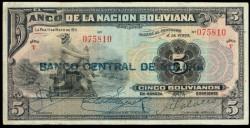Bolivia 5 Bolivianos PK 113 (1.929) MBC-