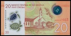 Nicaragua 20 Córdobas PK Nuevo (2.014) S/C