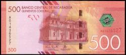 Nicaragua 500 Córdobas PK Nuevo (2.014) S/C