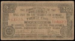 Filipinas 25 Centavos PK S 132f (1.942) BC