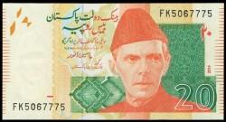 Pakistán 20 Rupias Pk Nuevo (55) (2.014) S/C