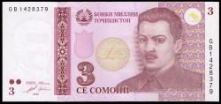 Tayikistán 3 Somoni PK 20 (2.010) S/C