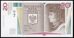 Polonia 20 Zlotych PK Nuevo (18-1-2.015) S/C