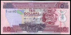 Islas Salomón 10 Dólares Pk Nuevo (27) (2.011) (Firma 8) S/C