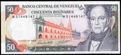 Venezuela 50 Bolívares PK 65g (13-10-1.998) S/C