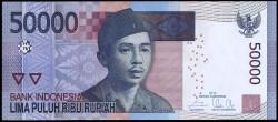 Indonesia 50.000 Rupias PK Nuevo (152) (2.015) S/C