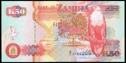 Zambia 50 Kwachas PK 37a (1.992) S/C