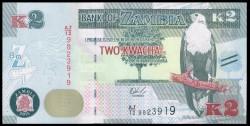 Zambia 2 Kwacha PK Nuevo (2.015) S/C